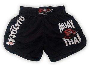 Shorts de Muay Thai Feminino - Preto - Progne