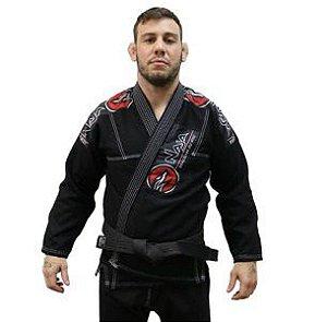 Kimono Jiu Jitsu Masculino New First Bjj - Preto - Naja - A3