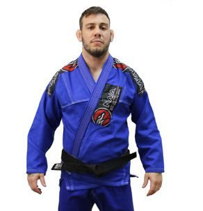 Kimono Jiu Jitsu Masculino New First Bjj - Azul - Naja - A3