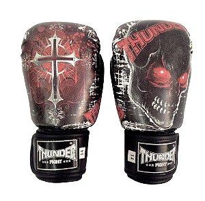 Luva de Boxe / Muay Thai 14oz  - Caveira / Cruz  - Thunder Fight