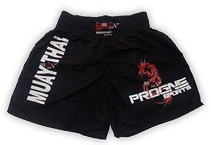 Shorts de Muay Thai Masculino - Preto - Progne