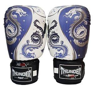 Luva de Boxe / Muay Thai 10oz  - Dragão Azul  - Thunder Fight