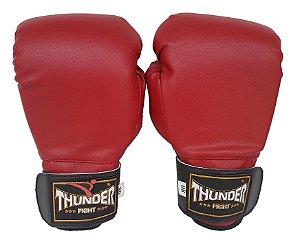 Luva de Boxe / Muay Thai 8oz  - Vermelho  - Thunder Fight