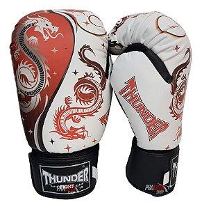 Luva de Boxe / Muay Thai 14oz  - Dragão Vermelho  - Thunder Fight