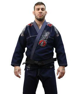 Kimono Jiu Jitsu Masculino New First Bjj - Azul Marinho - Naja - A2
