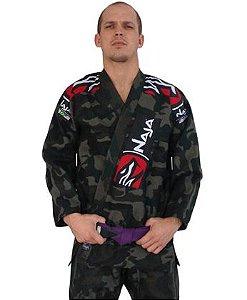 Kimono Jiu Jitsu Masculino Extreme Bjj - Camuflado - Naja - A1