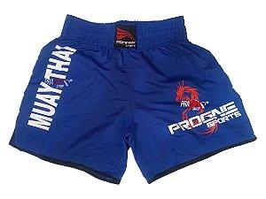 Shorts de Muay Thai Masculino - Azul - Progne