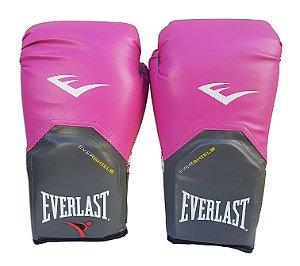 Luva de Boxe / Muay Thai Feminino 14oz Rosa Pro Style Everlast