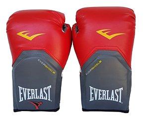 Luva de Boxe / Muay Thai 12oz Vermelho Pro Style Everlast