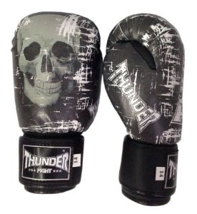 Luva de Boxe / Muay Thai 10oz  - Caveira  - Thunder Fight