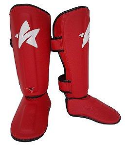 Caneleira Ultra Light Muay Thai MMA Vermelho 20mm SulSport