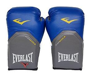 Luva de Boxe / Muay Thai 12oz Azul Pro Style Everlast
