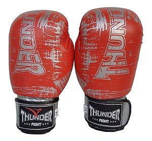 Luva de Boxe / Muay Thai 14oz  - Laranja Riscado  - Thunder Fight