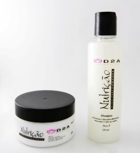 Kit Máscara e Shampoo Nutrição e Tratamento instantâneo D2A - Linha Home Care