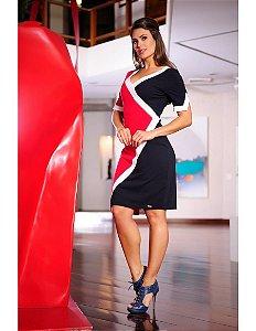 Vestido Recorte Nautico - 988 - Cassia Segeti