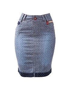 Saia Jeans Pontilhados - 1013 - Saiaria