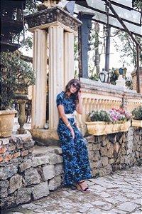 Vestido Longo Floral com Vivos - 10113 - Joyaly