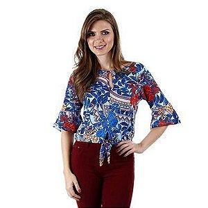 Blusa viscose estampada - 44875 - Cereja Rosa