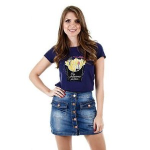 Blusa (camiseta) em Malha - 44878 - Cereja Rosa