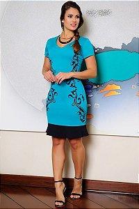 Vestido Corte a Laser Peplum - 1008 - Cassia Segeti
