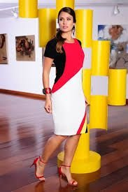 Vestido Crepe Tricolor - 977 - Cassia Segeti