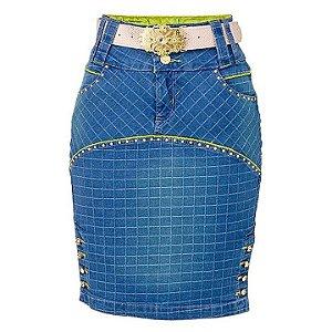 Saia Jeans Quadri - 1041 - Saiaria