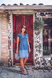 vestido Samantha - 9845B - Joyaly