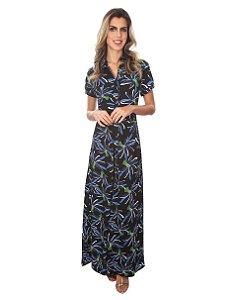 Vestido Longo Crepe - 10113 - Joyaly