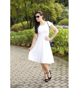 Vestido em crepe liso - 5594 - NK3