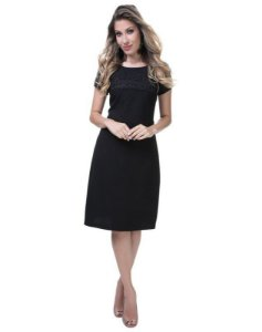 Vestido tubo - cor VINHO - 9882V - Joyaly