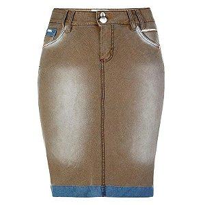 Saia Jeans Plus Size Lisboa - EX015A - Saiaria