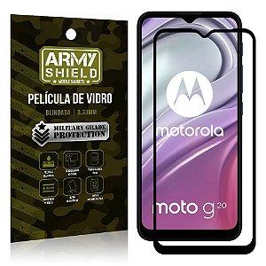 "Película de Vidro Moto G20 Blindada para tela 6,5"" Full Cover - Armyshield"