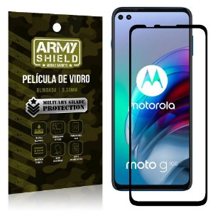 "Película de Vidro Moto G100 5G Blindada para tela 6,7"" Full Cover - Armyshield"
