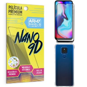 Kit Moto E7 Plus Película Premium Nano 9D + Capa Anti Impacto - Armyshield