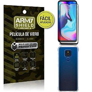 Kit Moto E7 Plus Película 3D Fácil Aplicação + Capa Anti Impacto - Armyshield