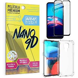 Kit Moto E7 Película Premium Nano 9D + Capa Anti Impacto - Armyshield