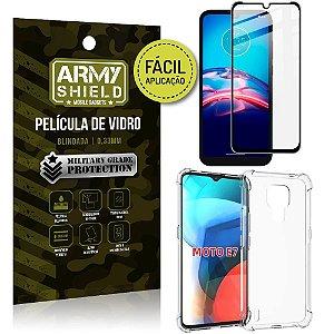 Kit Moto E7 Película 3D Fácil Aplicação + Capa Anti Impacto - Armyshield