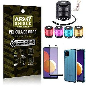 Kit Galaxy M12 Mini Som Bluetooth + Capa Anti Impacto + Película Vidro 3D - Armyshield