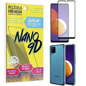 Kit Galaxy M12 Película Premium Nano 9D + Capa Anti Impacto - Armyshield