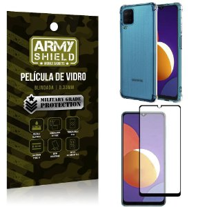Kit Galaxy M12 Capinha Anti Impacto + Película de Vidro 3D - Armyshield