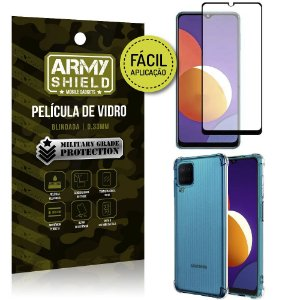 Kit Galaxy M12 Película 3D Fácil Aplicação + Capa Anti Impacto - Armyshield