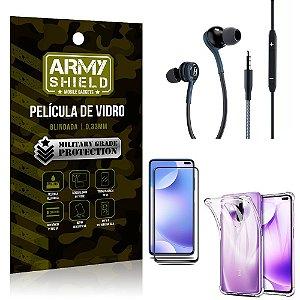 Kit Redmi K30 Fone Extreme + Capa Anti Impacto + Película 3D - Armyshield