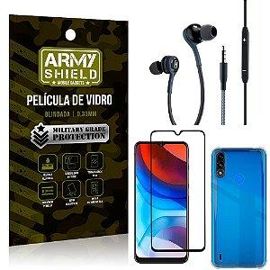 Kit Moto E7 Power Fone Extreme + Capa Anti Impacto + Película 3D - Armyshield