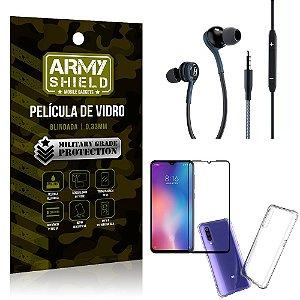Kit Mi 9 SE Fone Extreme + Capa Anti Impacto + Película 3D - Armyshield
