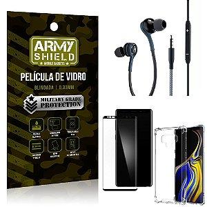 Kit Galaxy Note 9 Fone Extreme + Capa Anti Impacto + Película 3D - Armyshield