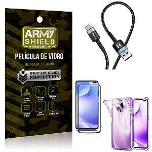 Cabo Usb Tipo C HS-302 Redmi K30 + Capinha + Película 3D - Armyshield