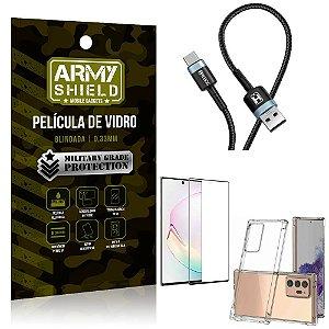 Cabo Usb Tipo C HS-302 Samsung Note 20 Ultra + Capinha + Película 3D - Armyshield