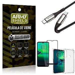 Cabo Usb Tipo C para Usb-C HS-167 Moto G8 Plus + Capinha + Película 3D - Armyshield
