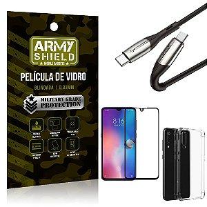 Cabo Usb Tipo C para Usb-C HS-167 Mi 9 + Capinha + Película 3D - Armyshield
