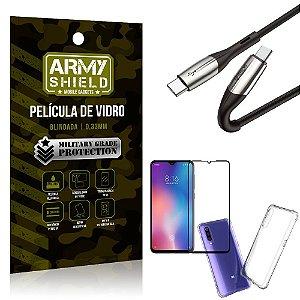 Cabo Usb Tipo C para Usb-C HS-167 Mi 9 SE + Capinha + Película 3D - Armyshield